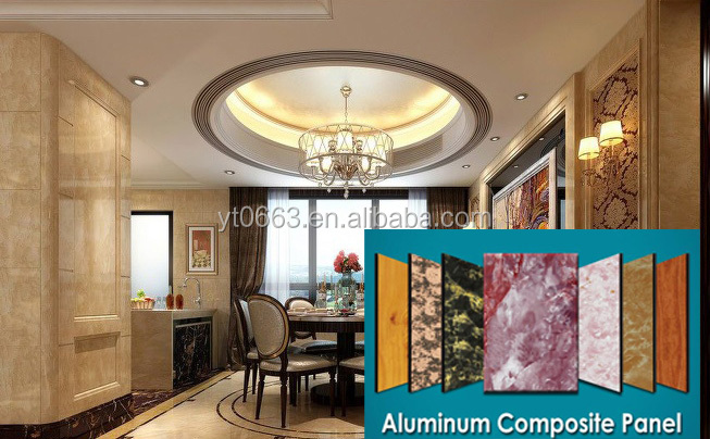 PE coating marble finish Aluminum Composite Panel ACP sheet wall cladding