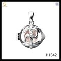 925 sterling silver pearl oyster cages pendant dragonfly cage necklace