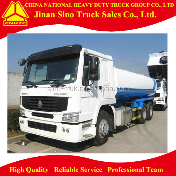 Sinotruck Howo 25m3 stainless steel 6x4 water tank truck