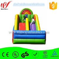 Great variety of designs water slide inflatable double lane slip slide for kids W4142