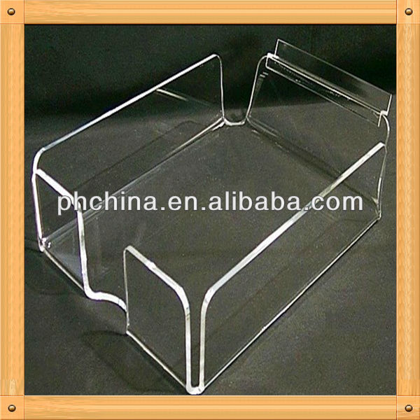 An-c578 European Design Factory Hot Sell Clear Plastic Bread Trays/Hospital Food Tray/Glass Tray