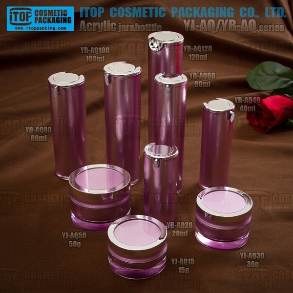 15g 30g 50g 20ml 40ml 60ml 80ml 100ml 120ml family shape high end cosmetics wholesale acrylic plastic cylinder containers