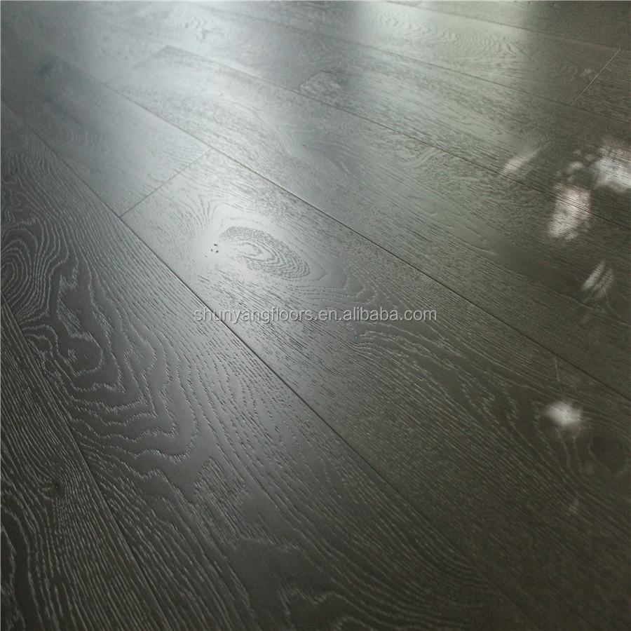Cheap Direct Factory Wholesale Prices Select Grade 2200*220*18/6mm Timber Flooring Smoked Mink Grey White Washed Engineered Oak