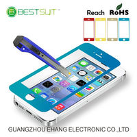 Beautiful packaging for iphone 5 colored tempered glass screen protector