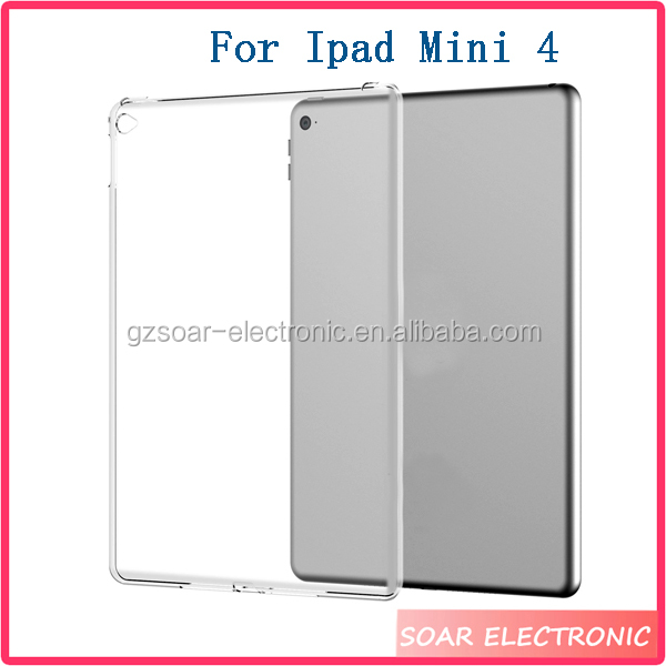 2016 New Products Clear Soft TPU Case For Ipad Mini 4 Wholesale Cover Tablet Phone Case