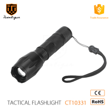 Wholesale 18650 battery T6 aluminum alloy tactical zoommable led flashlight