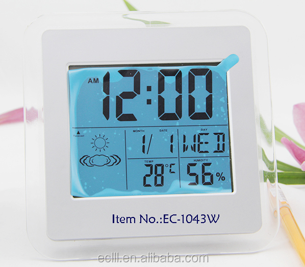LCD weather forecast digital clock