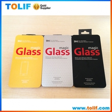 Hot 2015New product mobile phone metal slide cover retail packaging box for tempered glass screen protector Gift tin box