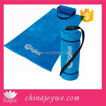 HangZhou China Towel Factory Supplier Microfiber Promotional Custom Made Beach Towel with Inflatable Pillow