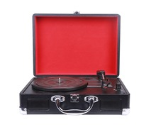 Multiple old turntable record players