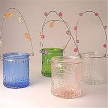 clear hanging Glass tealight/candle holder