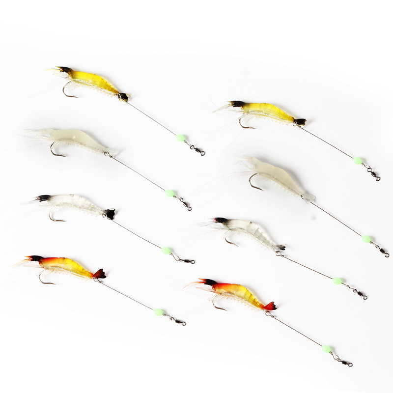 freshwater saltwater trout bass salmon shelure soft lure shrimp bait