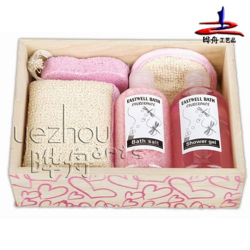 2011 hottest Spa bathroom accessories set in wooden tray