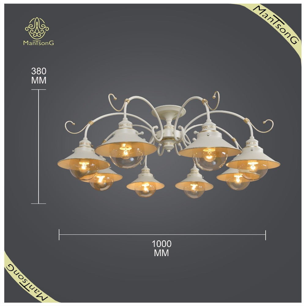 Factory Price Big House Decorative Ceiling Lamp with Beige Color, E27 Lights Ceiling Lamp