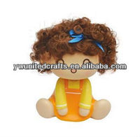 wholesale cute vinyl girl with plait doll