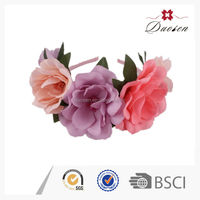 Wholesale big daisy flower crown plastic headband with flower