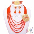 african beads jewellery necklace set nigerian coral beads jewelry set wedding