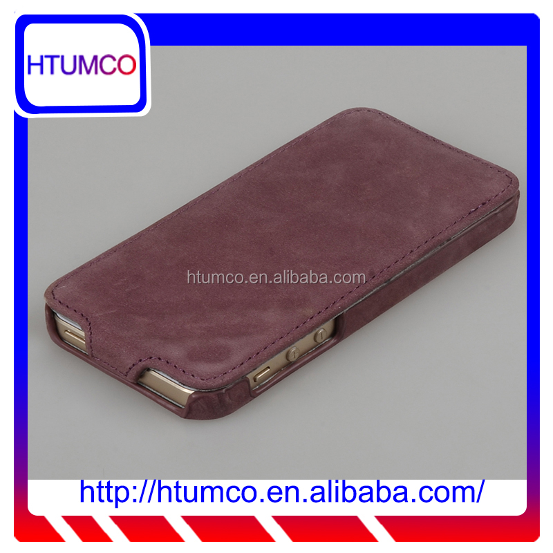 Premium leather flip phone case cover for Apple Iphone 5