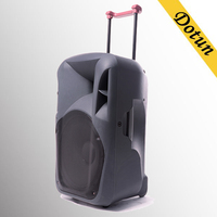 Big power 15 inch bass speaker with trolley wheels , speaker subwoofer, outdoor and stage speaker