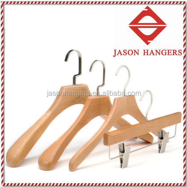 Beech wood clothes hanger DL1003, to fit the luxury branded fashions for Man/Woman/Pants