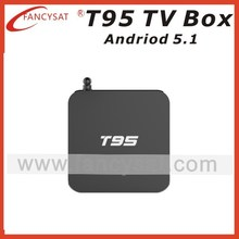 T95 TV BOX Android 5.1 Lollipop smart TV Box android Quad Core Amlogic S905 OTT TV Box with 1GB RAM 8GB ROM