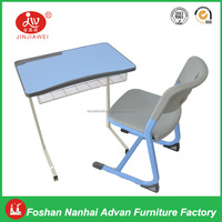 Cheap High School Furniture High Quality Plywood Classroom Chair MDF Top and Metal Frame with Chair