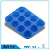 Silicone Bun Tray Mini Muffin Pan 12 Cup Maker Baking Candy Jelly Non Stick Mold