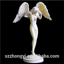 2014 China Supplier hot new products resin angel statuettes wholesale angel wing decoration