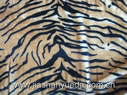 synthetic fur, tiger print fake fur fabrics(NO 1033)