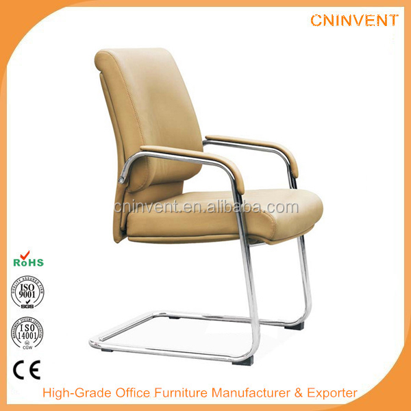 Modern leather visitor and meeting chair