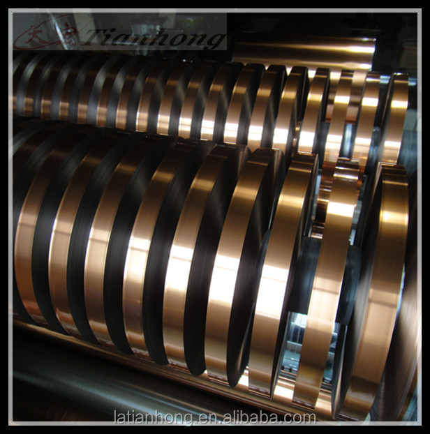 single side Copper color Aluminum Foil for electrical equipment
