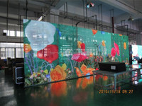 glass facade/led media facade/glass building transparent led media facade