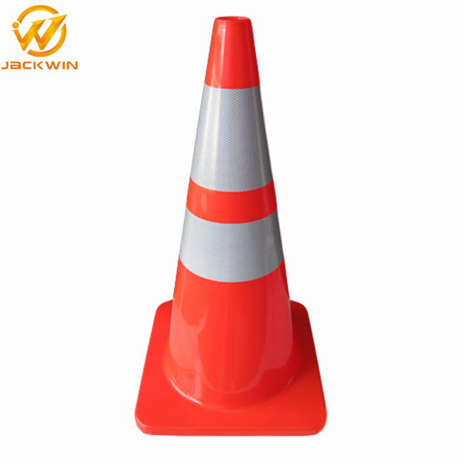 Strong Flexible Orange 900mm PVC Traffic Cone with Reflective Collar