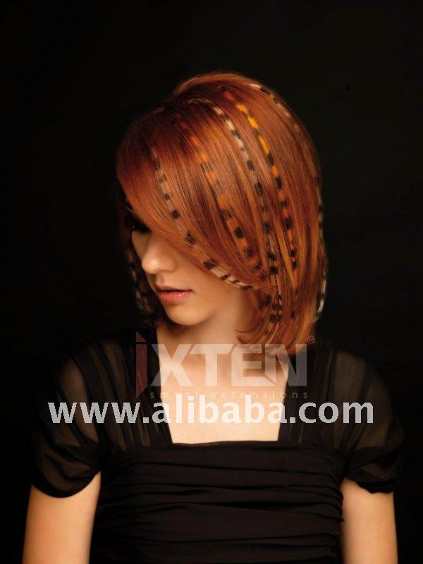 Red Copper Design Hair Extensions - Tattoo Hair