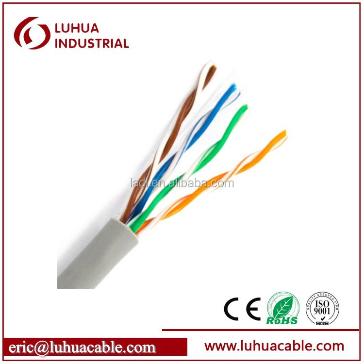 Networking cable Good quality utp cat5e lan cable 4pr 24awg best price