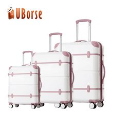 3 pcs set travel trolley 1680D luggage/beauty cheap eminent vintage hot sales luggage
