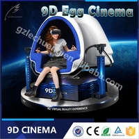 Dynamic Motion Virtual 9D Cinema/Theater 9D Egg VR 3D Glasses Simulator For Oversea Market