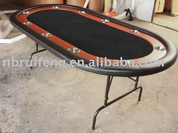 "texas hold'em 84"" poker table with foldable steel leg"