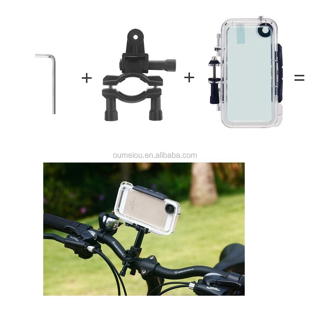 Best sell bike handle waterproof cell phone case for iphone5s