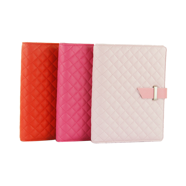 Factory price 6 holes ring binder notebook, a4 pu leather cover calculator notebook, travel notebook supplier