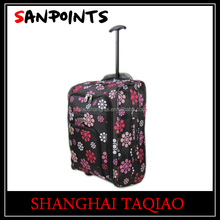 Single trolley travel expandable bag with 2 wheels