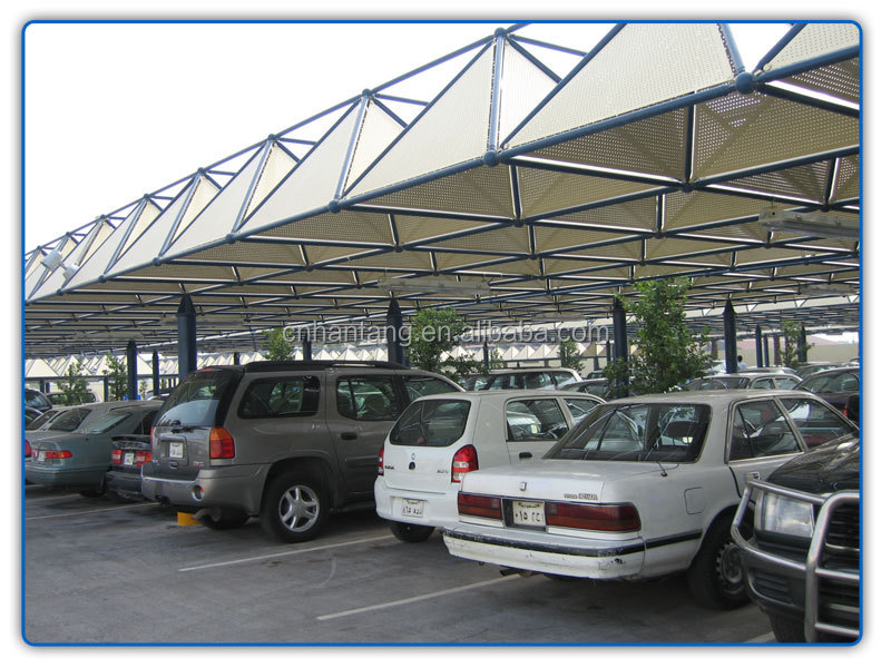 Lightweight car parking steel space frame roof system building in Saudi Arabia