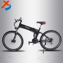 26 inch aluminum alloy gearshift folded / foldup electric bike with hidden battery, eec folding bicycle