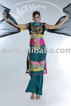 Ladies Colourful Pakistani formal dress