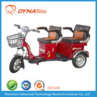 Good Quality 500-1000W Motor 20-40AH Battery Powered Electric Trike Motorcycle