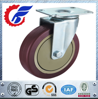 Small Industrial Casters Wheel and Roller with Brake or fixed