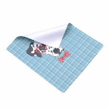 Custom HD Logo Printing Glasses Microfiber Cleaning Cloth with jugged edge