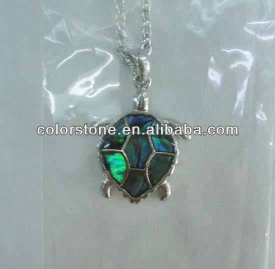 Natural shell turtle pendant,Lovely turtle Shape opal jewelry,Fashion sea shell turtle jewelry