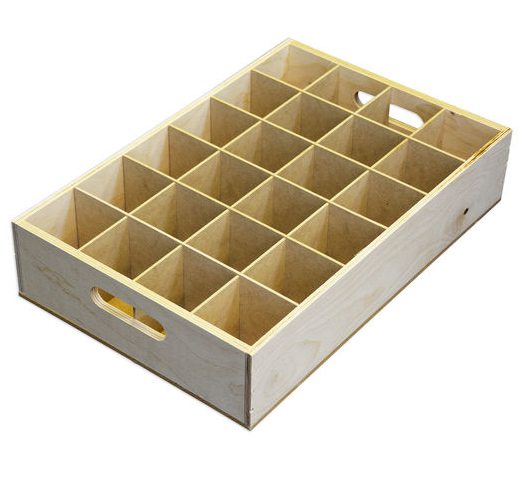 Handmade unfinished divided wooden fruit crate buy for Buy wooden fruit crates