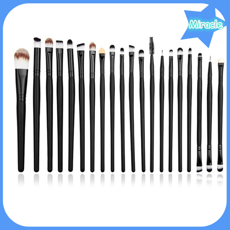 20pcs wooden handle make up brush cosmetic brushes for girls